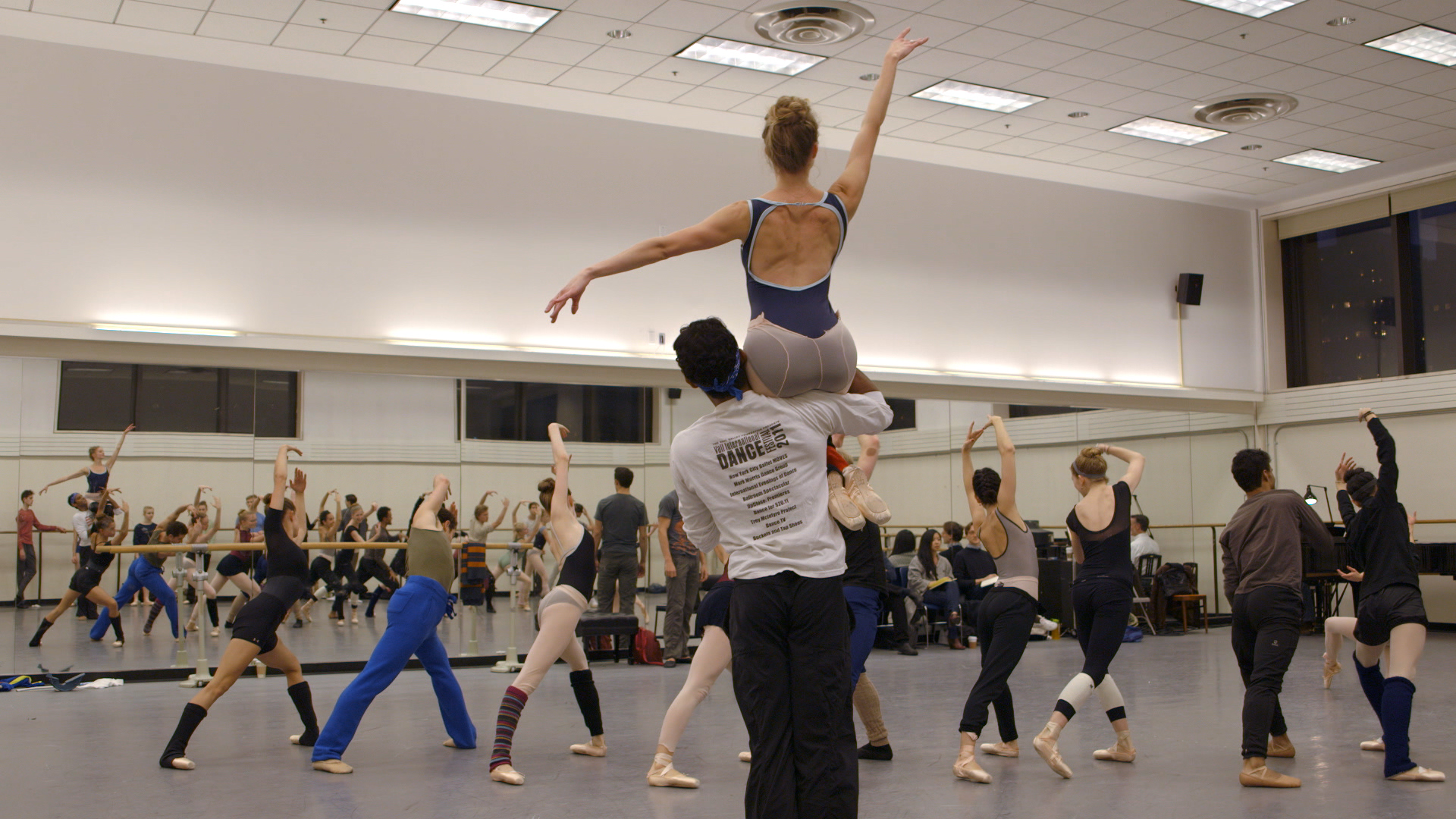 A scene from Justin Peck's Ballet 422. Image via Magnolia Pictures