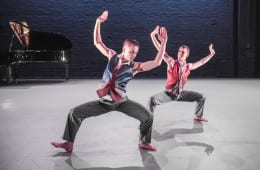 "Richard Alston Dance Company's ""Mazur"" with dancers Liam Riddick and Jonathan Goddard. Photograph by Tony Nandi"